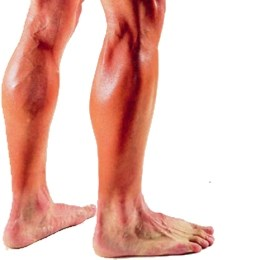 Man athlete with shaved legs