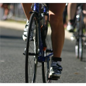 Cycling in bike shoes with cleats