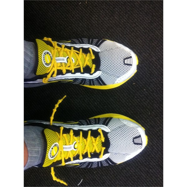 Yellow fitted to my Brooks Racer S1's